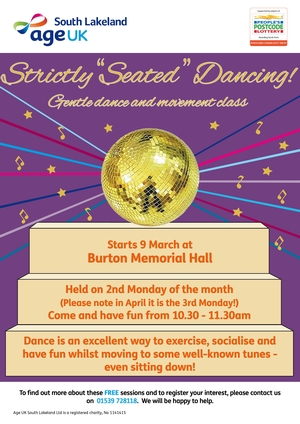 Strictly Seated Dancing poster Age UK