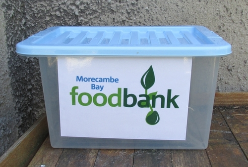 Morecambe Bay Food Bank collection point Burton-in-Kendal